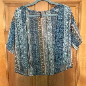 Multi-colored, Paisley Kimono